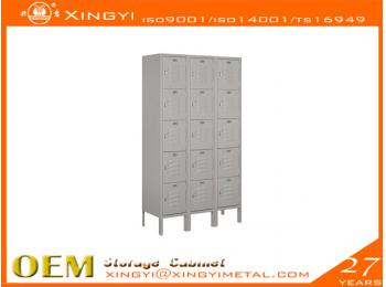 Economic Steel Locker Five Tier Box Style Gray