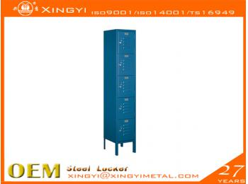 Economic Steel Locker Five Tier Box Style Bule