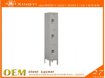 Standard Steel Locker Triple Tier Gray